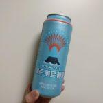 韓国の缶ビール!今回はクラフトビールと発泡酒の2本をお土産に!